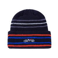 Dime Striped Beanie - Black