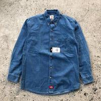 DICKIES Long Sleeve Denim Shirt -  Stonewashed Blue