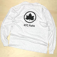 NYC PARKS STAFF OFFICIAL UNIFORM L/S TEE - Ash Grey