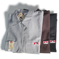 BEN DAVIS 1/2 ZIP WORK SHIRT
