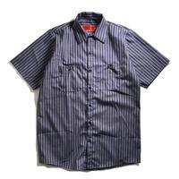 Red Kap Stripe Work Shirt - Navy/Khaki