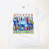 QUARTERSNACKS ALWAYS CURRENT TEE-WHITE