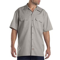 DICKIES Short Sleeve Work Shirt - Silver