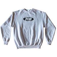 Tall Can Boyz Oval Logo Crewneck - Ash Grey
