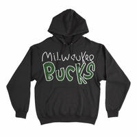 After School Special Milwaukee Bucks Applique Pullover Hoodie - Black