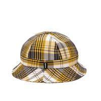 Alltimers PLAID BUCKET HAT YELLOW/WHITE