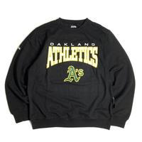 MLB Official Oakland Athletics Crewneck Sweat Shirts - Black