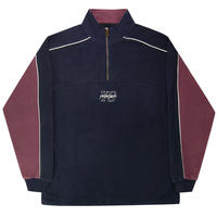 Yardsale Pipeline Quarterzip - Navy/Lilac