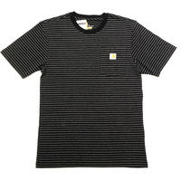 CARHARTT WORKWEAR POCKET T-SHIRT - Black Stripe