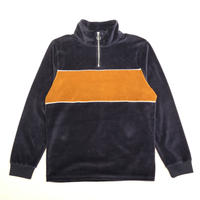 ARIZONA HALF ZIP VELOR TOP - WILLIAMSBURG NAVY