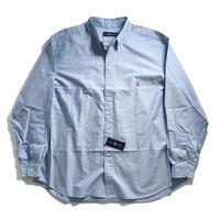 Ralph Lauren Big Size Oxford Sport Shirt - Blue  (2XB,3XB)