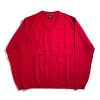 Harriton V-Neck Acrylic Sweater - Red