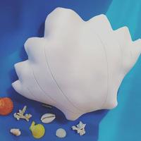 Shell Cushion.  L size  ウエット素材のマシュマロ♡シェルクッション.