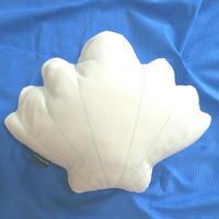 Shell Cushion. White Denim シェルクッション ♡エメラルド