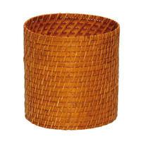 型番270(270) 竹&籐 丸型かごバスケット 屑入れ 収納小物入れ 鉢カバー 【かごのお店ラッセルSTORES】