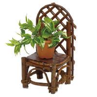 585 天然木製フラワースタンド  園芸 ガーデンアクセント