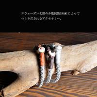 saami crafts レザー&ピューター ブレスレット AZ013