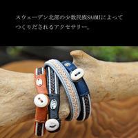 saami crafts レザー×ピューター ブレスレット AL044