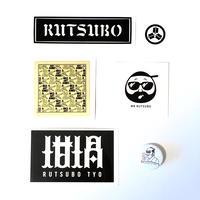 RUTSUBO Sticker Pack(ステッカー5枚+缶バッジ1個)