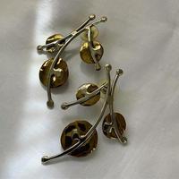 vintage dead stock silver design pierce