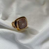 vintage 18Kgold Rose Quartz ring