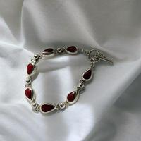 vintage Mexico silver  Red Jasper bracelet