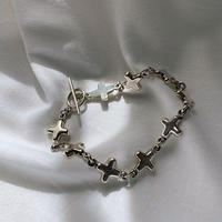 vintage Mexico silver  cross bracelet