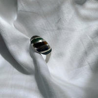 vintage Mexico silver colour stone ring