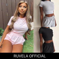 RUVELA select★ フレアパンツ&クロップトップ セット
