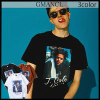 【GMANCL】3color J.coleプリント半袖Tシャツ