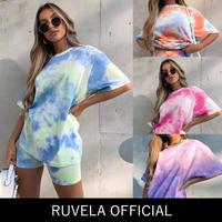 RUVELA select★ タイダイハーフレギンス&Tシャツセット