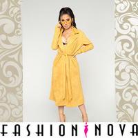 【Fashion Nova】フェイクスウェードロングトレンチコート