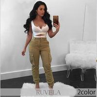 【RUVELA SELECT】2color ハイウエストカーゴパンツ