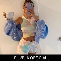 【即納あり】RUVELA select★ タイダイ クロップトップ&ショーパン セット