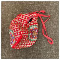 ラーダーモーハンのマハープラサーダムビーズバッグ赤い花