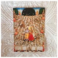 ラーダークリシュナと牛たちのアートカード