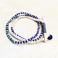 Blue Vintage Beads Necklace