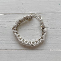 Silk Ribbon & Chain Bracelet