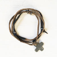 Cross Leather Necklace