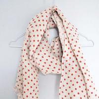 TIKAU_Red Dots Linen Scarf_ (リネンスカーフ)