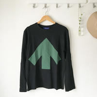 Reet Aus_ Up-Shirt Mens_Green&Black_Long sleeves ( ロングT シャツ)