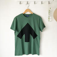 Reet Aus_ Up-Shirt  Unisex Black and Green ( Tシャツ_ユニセックス)