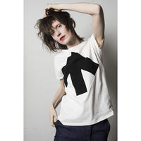 Reet Aus_ Up-Shirt Women's Black and White ( Tシャツ_レディース)