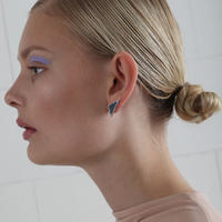 SÄGEN_Virrvarr Triangle small Earrings ( 片耳用ピアス)