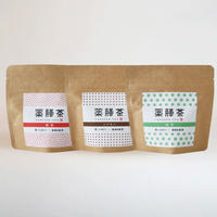 薬膳茶(3種セット)  薔薇・緑茶・シナモン  (メール便)