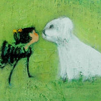 usF6-071419 可愛い子犬と女の子