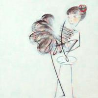 F4-040414 バレエの出番を待つ女の子