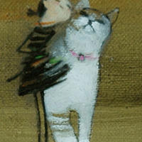 F3-030919 可愛い子猫(子犬)と女の子