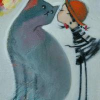 usF6-050320 可愛い子猫と女の子