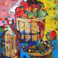 usF6-063704 静物(果物と瓶)
